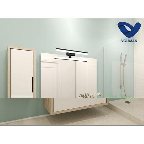 Applique salle de bain 32cm Noir - GAMMA techno OPTICARE™ - VOLTMAN - IP44 7W 4000K 560Lm - Noir