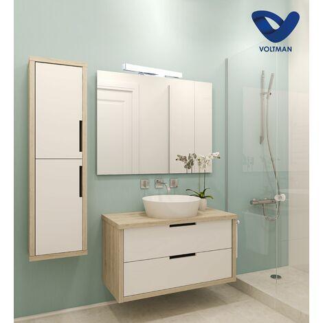 Applique salle de bain 41cm miroir - ELIA techno OPTICARE™ - VOLTMAN - IP44 12W 4000K 960Lm - Chrome