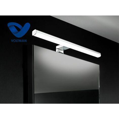 Applique salle de bain 49cm - dimmable & télécommandée - lumière naturelle - AURA techno OPTICARE™ - VOLTMAN - IP44 10W 3000 à 6000K 600Lm - Alu