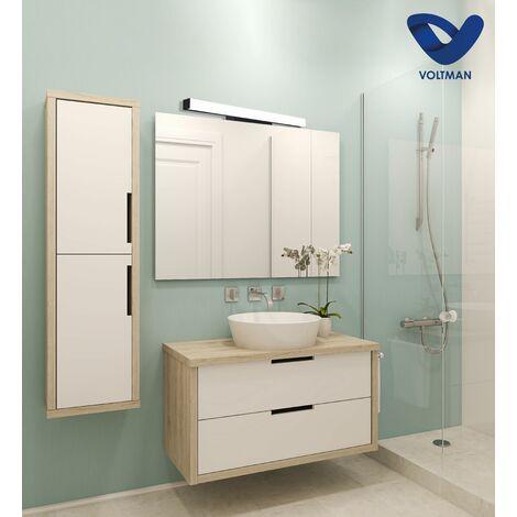 Applique salle de bain 53cm noire - ELIA techno OPTICARE™ - VOLTMAN - IP44 16W 4000K 1280Lm - Noir