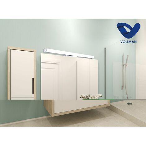 Applique salle de bain 78cm miroir - ELIA techno OPTICARE™ - VOLTMAN - IP44 20W 4000K 1600Lm - Chrome