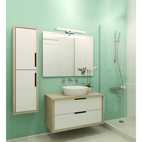 Applique salle de bain 78cm Miroir - GAMMA techno OPTICARE™ - VOLTMAN - IP44 16W 4000K 1280Lm - Chrome