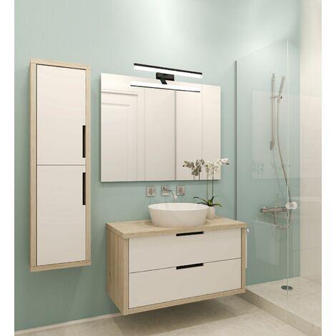Applique salle de bain 78cm Noir - GAMMA techno OPTICARE™ - VOLTMAN - IP44 16W 4000K 1280Lm - Noir