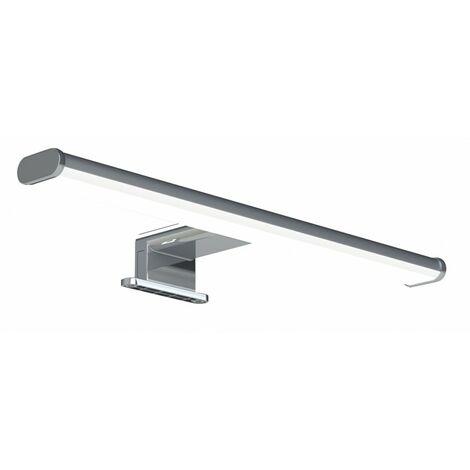 Applique salle de bain, fixation miroir ou mur, aluminium, led