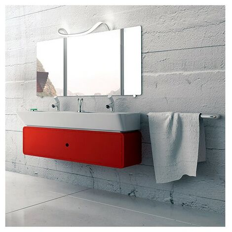 Applique salle de bain originale Nâga IP44 classe 2 - Argent