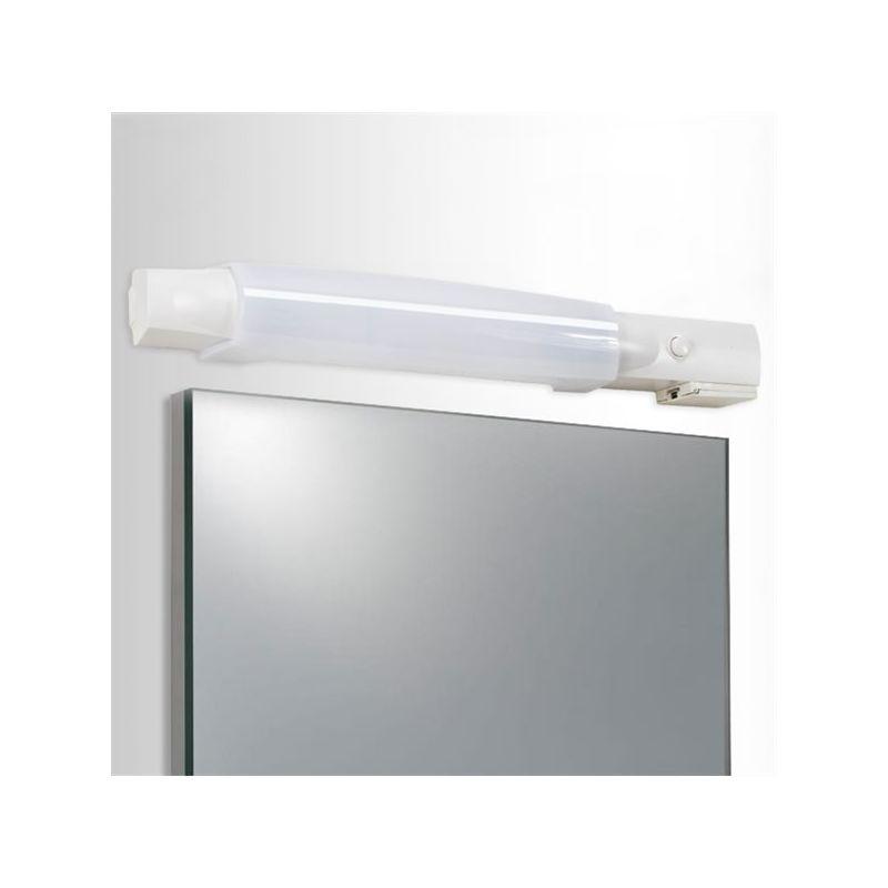 Applique salle de bain r glette pour tube led halog ne ou Reglette salle de bain avec interrupteur