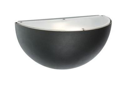 Applique sfera esterno lampada parete grigia e sovil