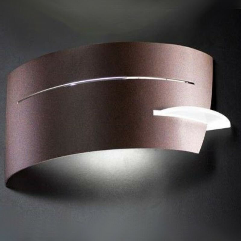 Applique sn-vultur 1023e e27 acciaio moderna lampada parete interno ip20, finitura metallo bronzo - SELENE ILLUMINAZIONE