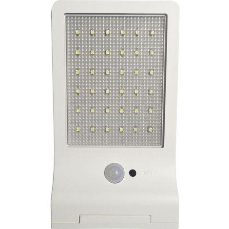 Applique solaire extérieure avec détecteur de mouvement Müller Licht 21000006 3 W blanc lumière du jour blanc 1 pc(s)