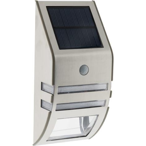 Applique solaire Led à détecteur de mouvement - noir ou gris - 140 lm ou 50 lm