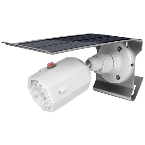 Applique Solaire, Surveillance De Simulation, Capteur Infrarouge Du Corps Humain, Projecteur,Fausse Caméra, Lampe De Jardin.