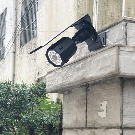 Applique Solaire, Surveillance De Simulation, Fausse Caméra, Capteur Infrarouge Du Corps Humain, Projecteur, Lampe De Jardin