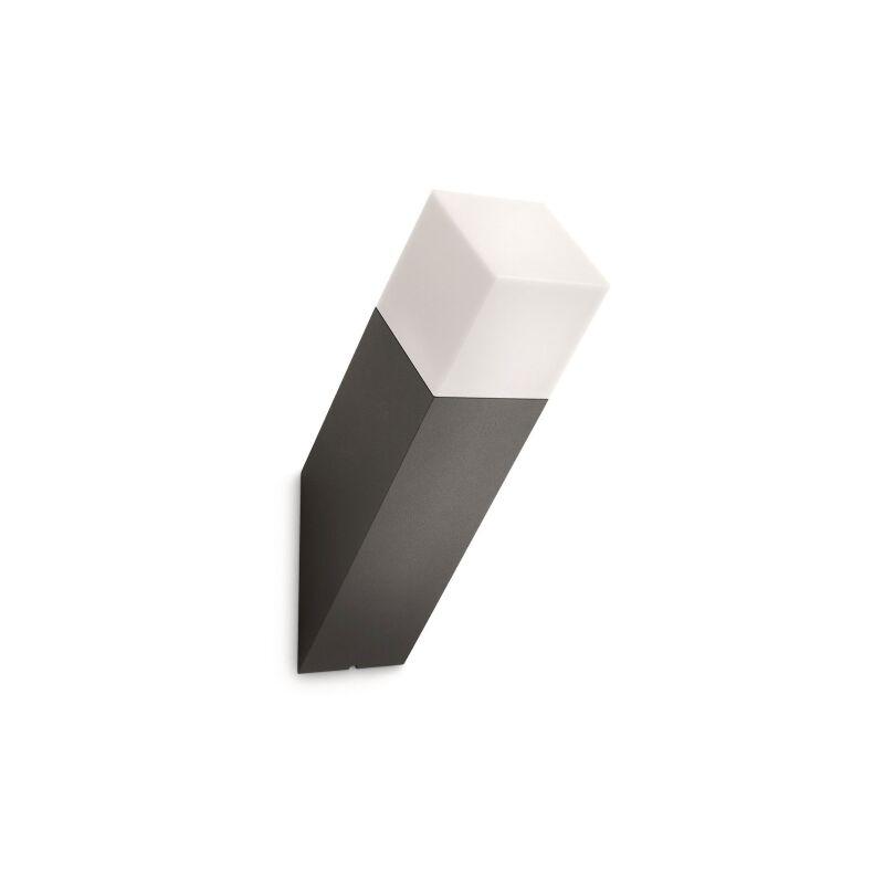 Applique testa inclinata alluminio antracite e sintetico