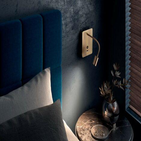 """main image of """"Applique tête de lit Laiton flexible Focus avec port USB - Doré"""""""