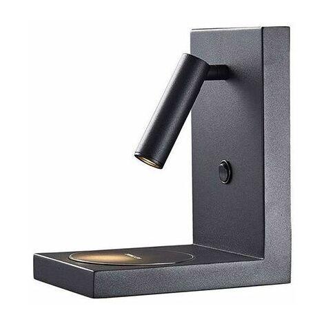 Applique TONGA Noire avec chargeur téléphone induction - Noir