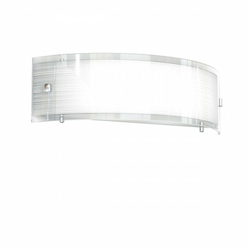 Applique tp-linear mad 1075 a40 e27 led vetro serigrafato curvo fascia lampada parete soffitto moderna interno