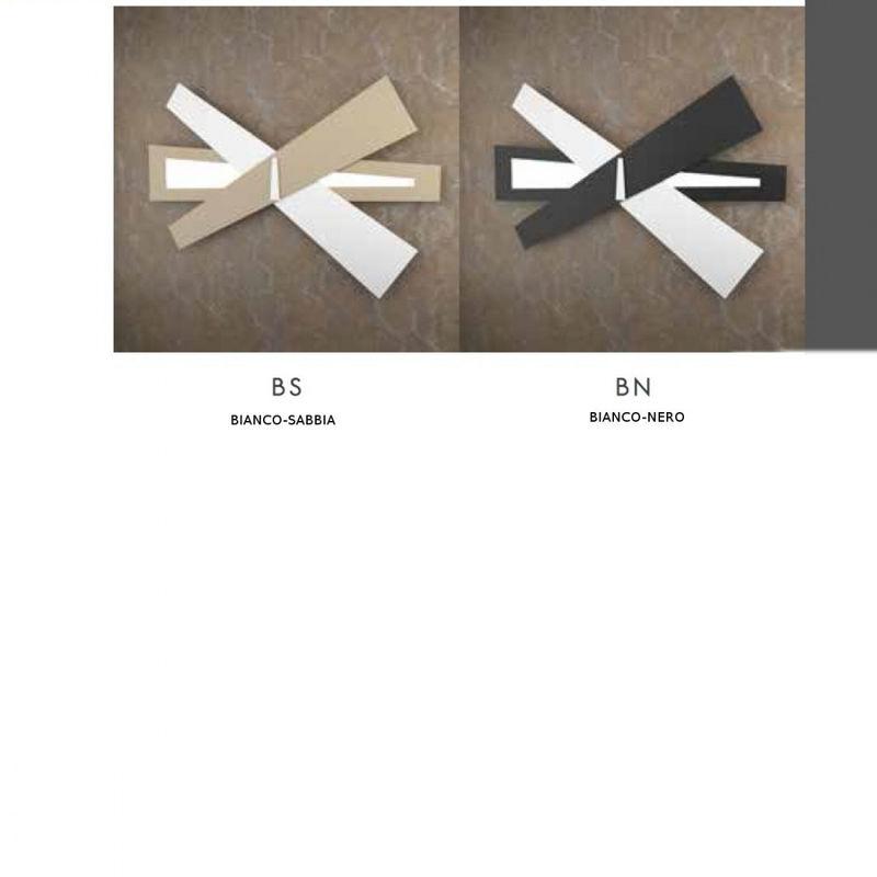 Applique tp ribbon a w g led metallo bianco nero