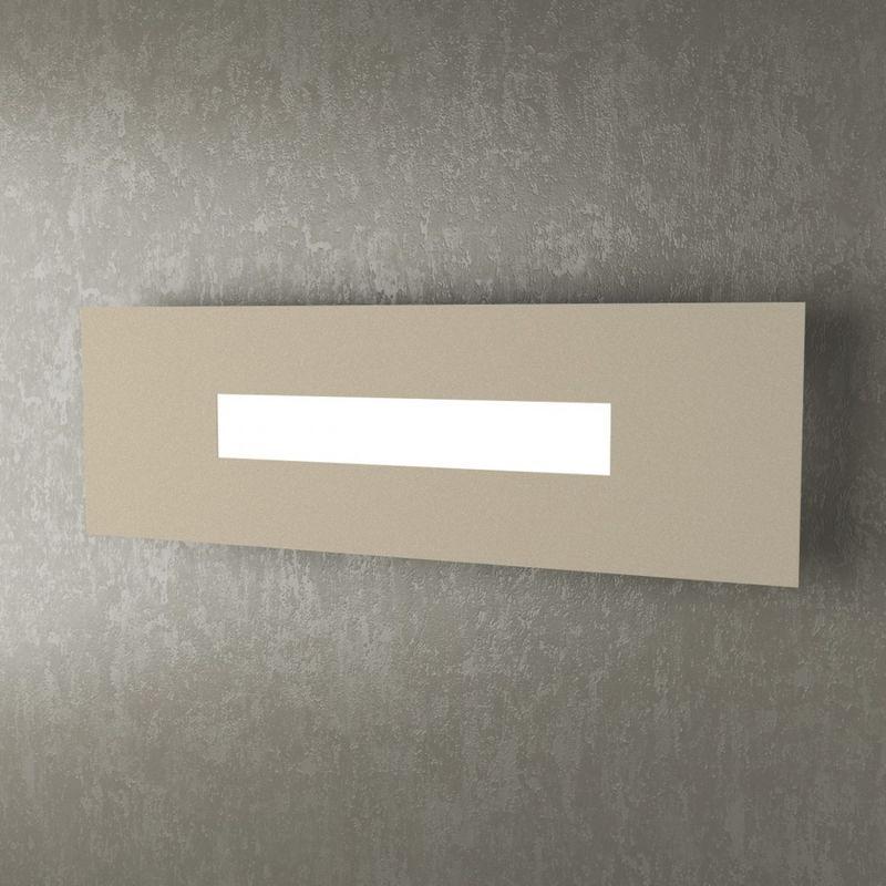 Applique tp-wally 1138 50cm 2g11 led metallo plexiglass lampada parete rettangolare moderna interno, finitura metallo sabbia