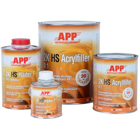 Apprêt acrylique très garnissant à poursuite avec durcisseur APP 2K HS Acrylfiller 4:1 blanc 5l
