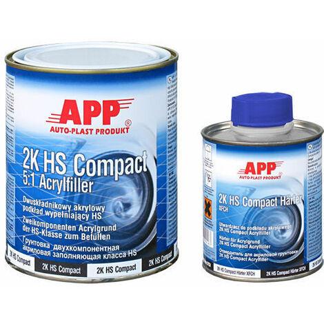 """main image of """"Apprêt garnissant compact carrosserie gris foncé 2k HS + durcisseur+ diluant=+1,6 kg"""""""