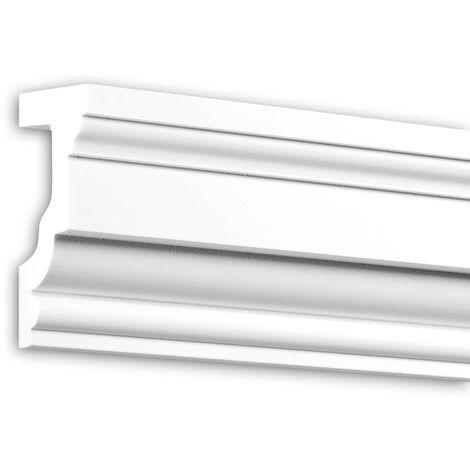 Appui de fenêtre Profhome 482202 Moulure exterieure Encadrement de fenêtre Élément de façade design intemporel classique blanc 2 m