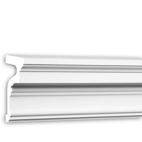 Appui de fenêtre Profhome 482301 Moulure exterieure Encadrement de fenêtre Élément de façade design intemporel classique blanc 2 m