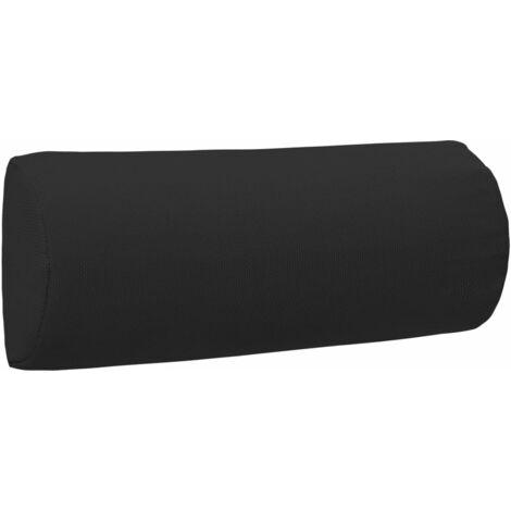 Appui-tête de chaise longue Noir 40x7,5x15 cm Textilène