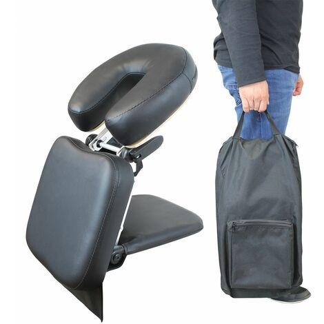 Appui tête, têtière de massage universelle transportable - Noir - Vivezen
