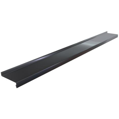 Appuis De Fenêtre Aluminium Noir 1 Mm De 2 Mètres 20 Mm 100 Mm