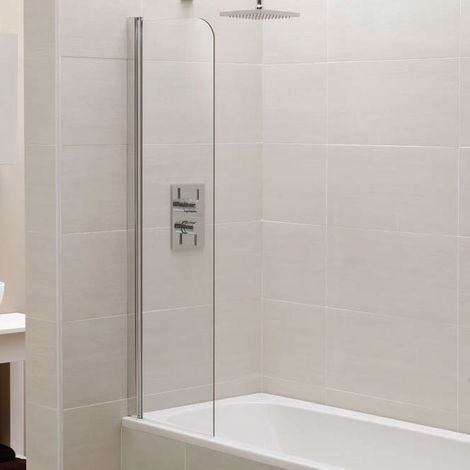 April Identiti2 Mini Bath Screen 1400mm High x 300mm Wide 6mm Glass