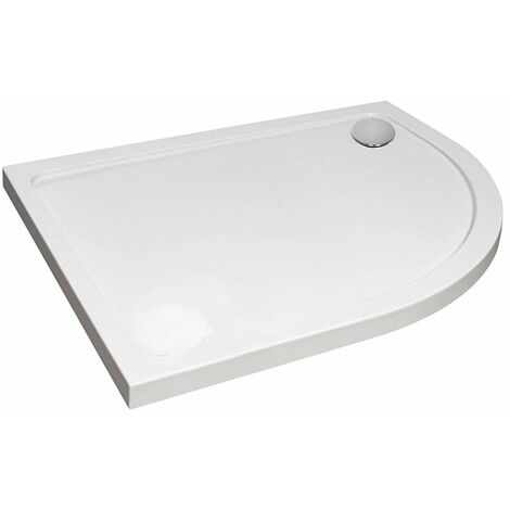 April Offset Quadrant Shower Tray 1000mm x 800mm - Right Handed