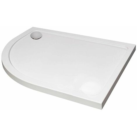 April Offset Quadrant Shower Tray 1200mm x 800mm - Left Handed