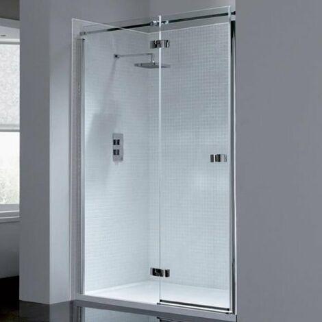 April Prestige2 Frameless Hinged Shower Door 1400mm Wide Left Handed - 8mm Glass