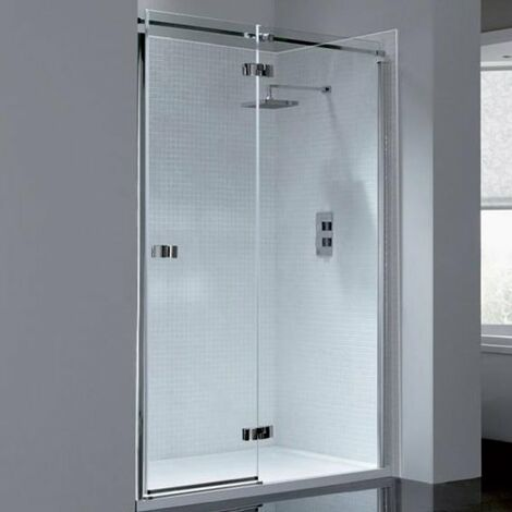 April Prestige2 Frameless Hinged Shower Door 1400mm Wide Right Handed - 8mm Glass