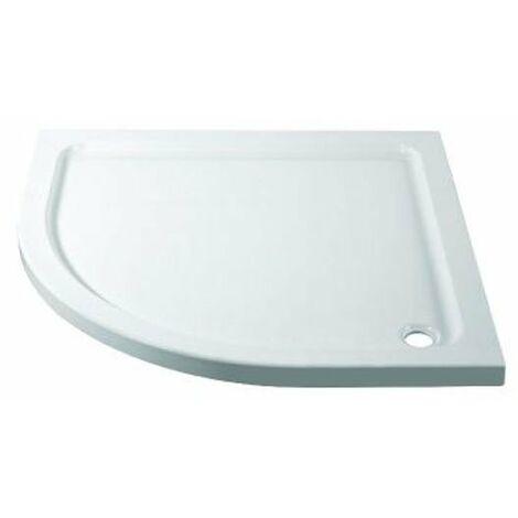 April Quadrant Shower Tray 800mm x 800mm - Stone Resin