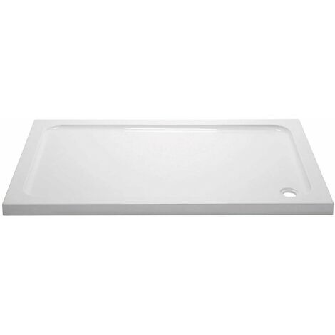 April Rectangular Shower Tray 1100mm x 800mm - Stone Resin