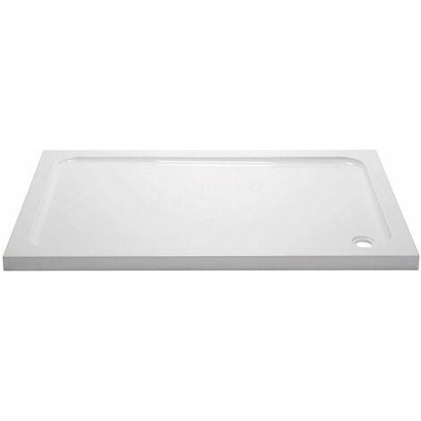April Rectangular Shower Tray 1400mm x 900mm - Stone Resin