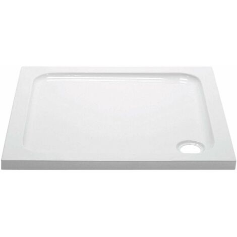 April Square Shower Tray 800mm x 800mm - Stone Resin