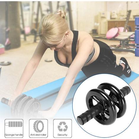 Aptitud Abdomina rueda de rodillos para entrenamiento Accesorios Abdominas Abdomina Roller aparatos de gimnasia, Negro
