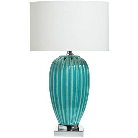Apus Table Lamp Blue Ceramic Base - Contemporary Style Desk Lamp