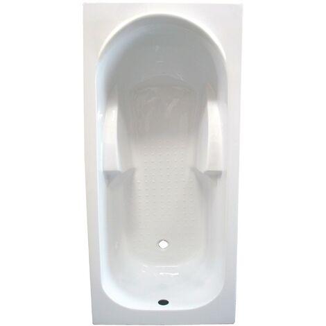 Baignoire Fany Bac Rectangulaire 140x70cm Abs Et Acryl Renforce 3mm Blanc Sachbaq14070