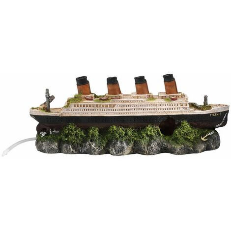 Aqua d'ella Shipwreck Titanic with Air Stone 39x11x17 cm 234/237601
