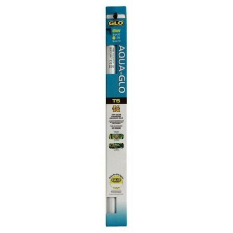 AQUA-GLO Tube fluorescent 8 W - 30 cm - 15 mm - Pour aquarium