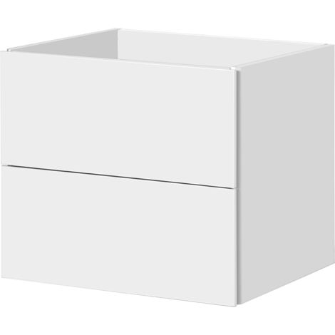 Aqua Vive la vanidad del gabinete Cecina de 60 cm de alto brillo blanco