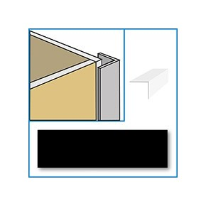 Image of Aquaclad PVC External Corner - Black