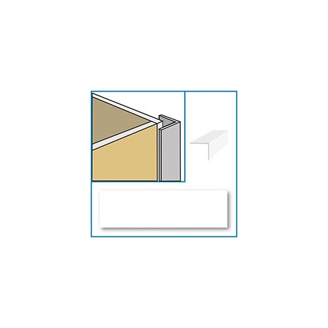 Aquaclad PVC External Corner - White
