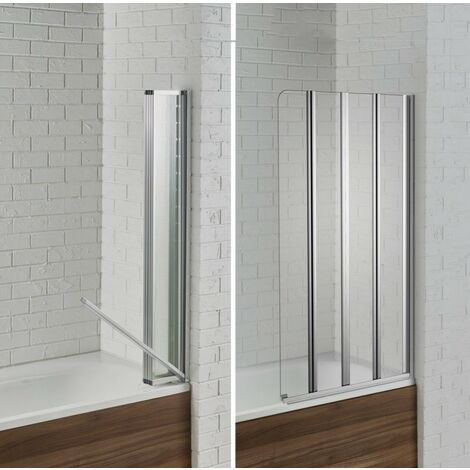 Aquadart Venturi 6 Swiftseal Semi-frameless 4 Fold Bath Screen 6mm - Left Hand