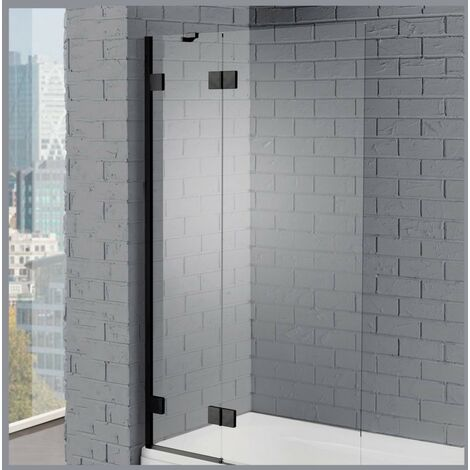 Aquadart Venturi 8 Black Hinged Bath Screen 8mm