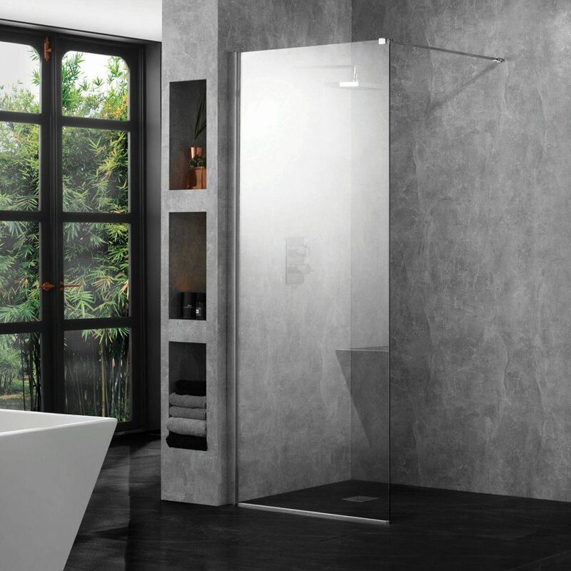 Image of Wetroom 10 1000x2000mm Clear 10mm Safety Glass Panel Bathroom CE Marked - Aquadart