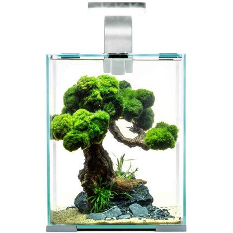 "main image of ""Aquael - Aquarium Set Cube SHRIMP 30 Day&Night 30L - Blanc"""
